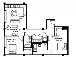 2 Bedroom (Affordable 60%)