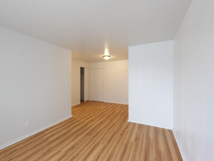 Living Room with plank vinyl hardwood floors