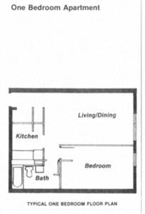 1 bedroom apartment at Williamson Towers in Williamson, WV