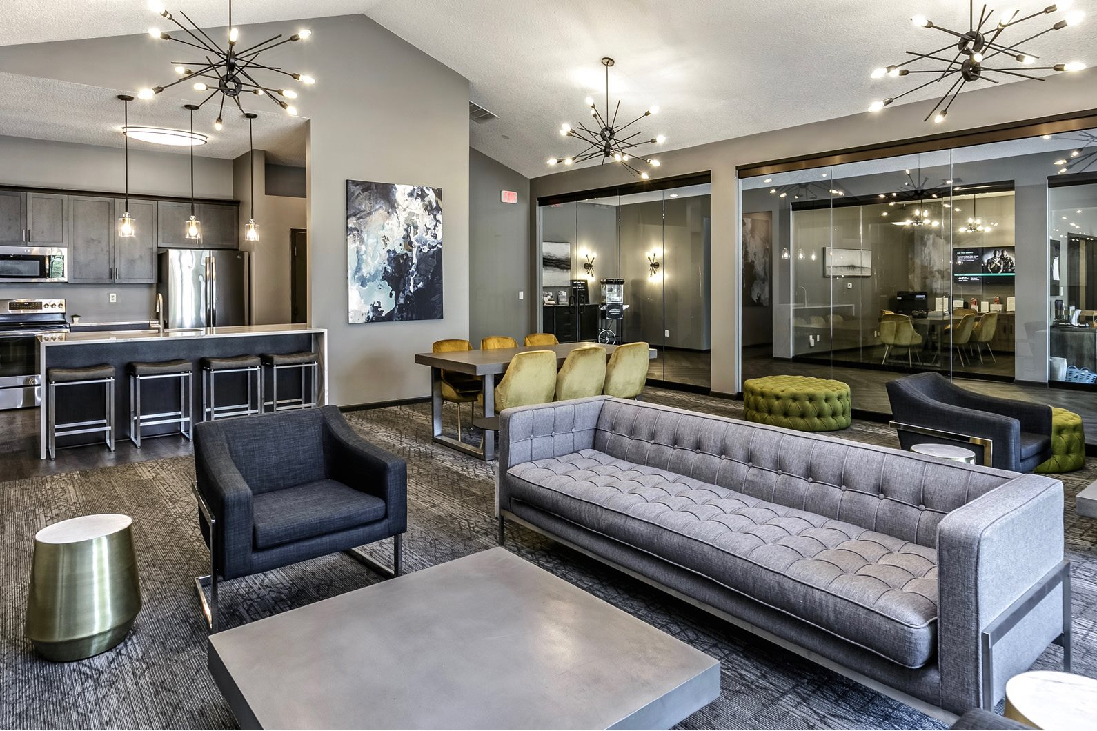 Remodeled clubhouse at Southwest Gables Apartments, Omaha NE