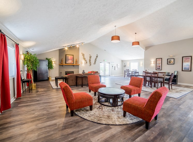Clubroom at Bradford Place Apartments, Lafayette, Indiana
