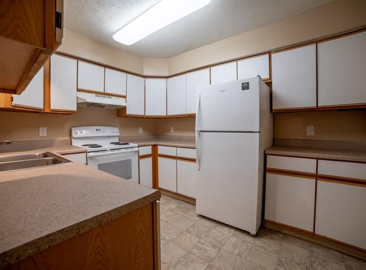 Refrigerator And Kitchen Appliances at Bradford Ridge Apartments, Bloomington, 47403