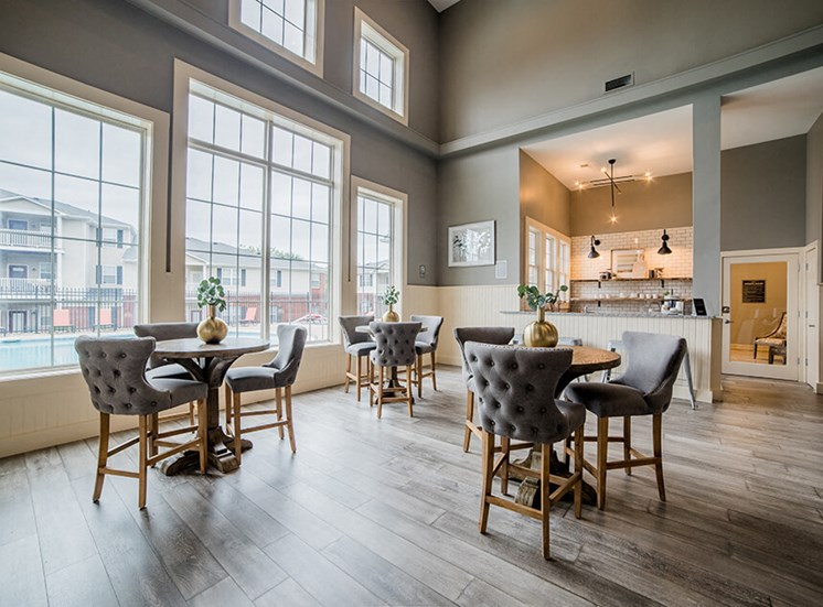 Clubhouse With Expansive Windows at Champion Farms Apartments, Louisville, KY