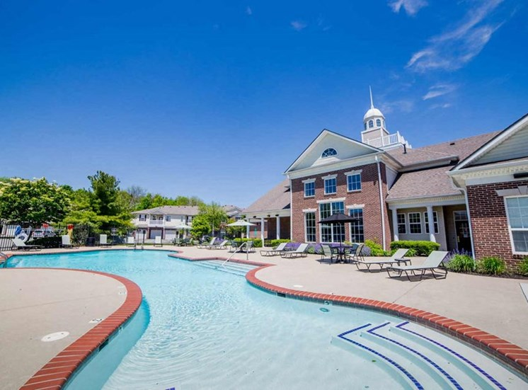 Resort style pool at The Reserve at Williams Glen Apartments, Zionsville, IN
