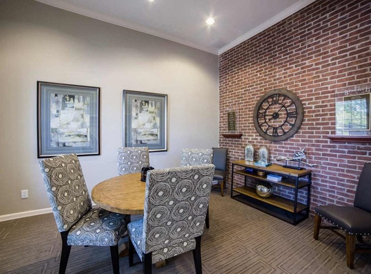 Seating in clubhouse at The Reserve at Williams Glen Apartments, IN, 46077