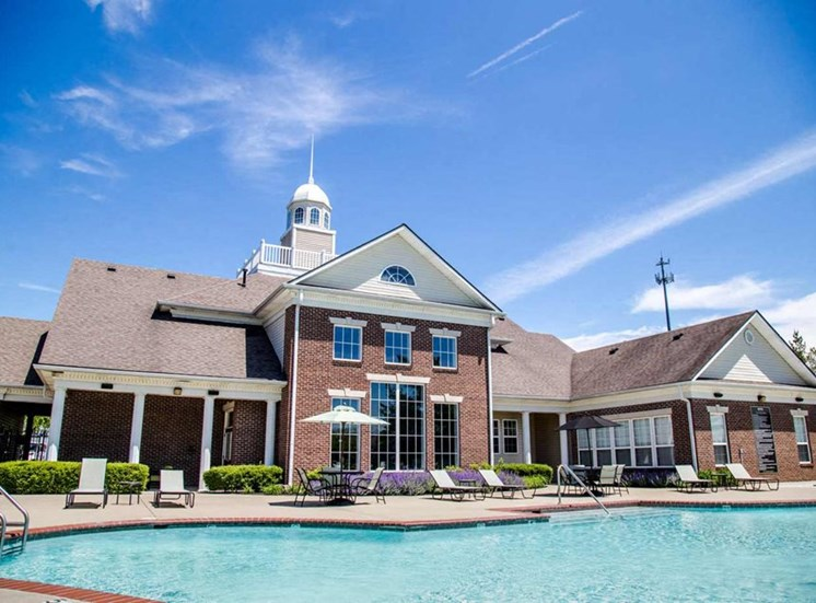 Sparkling pool at The Reserve at Williams Glen Apartments, Zionsville, IN