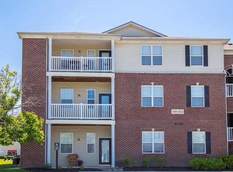 Patio/balconies at The Reserve at Williams Glen Apartments, Zionsville, IN