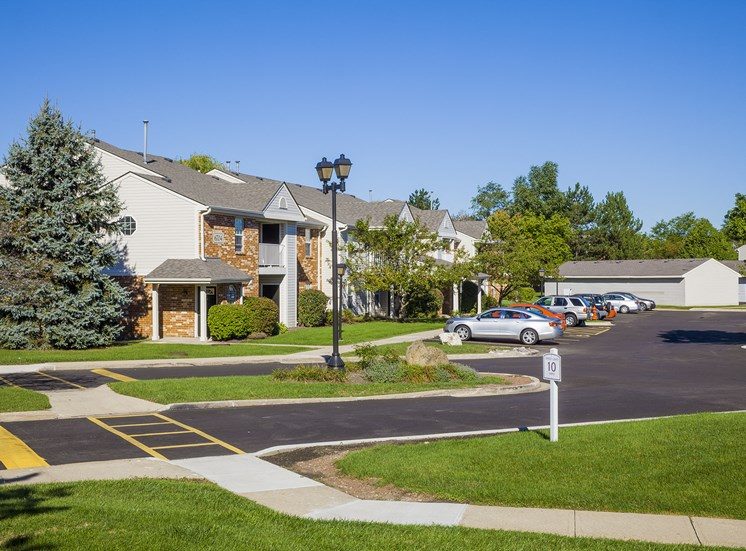 exterior driveway parking amenity center
