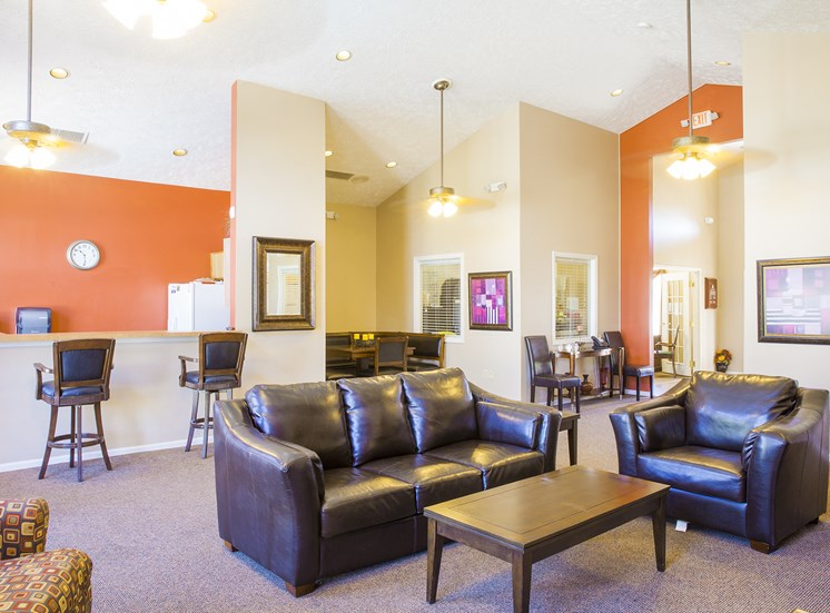 clubhouse lounge with couches
