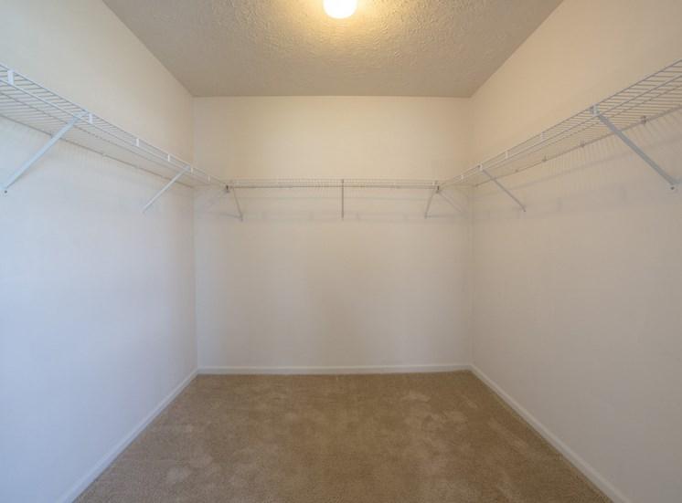 large closet in apartment