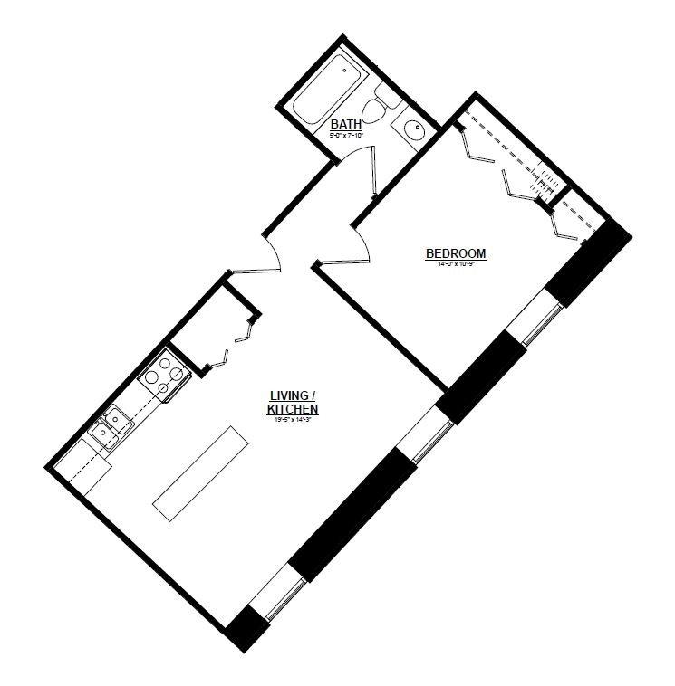 Argyle - One Bedroom A Floor Plan