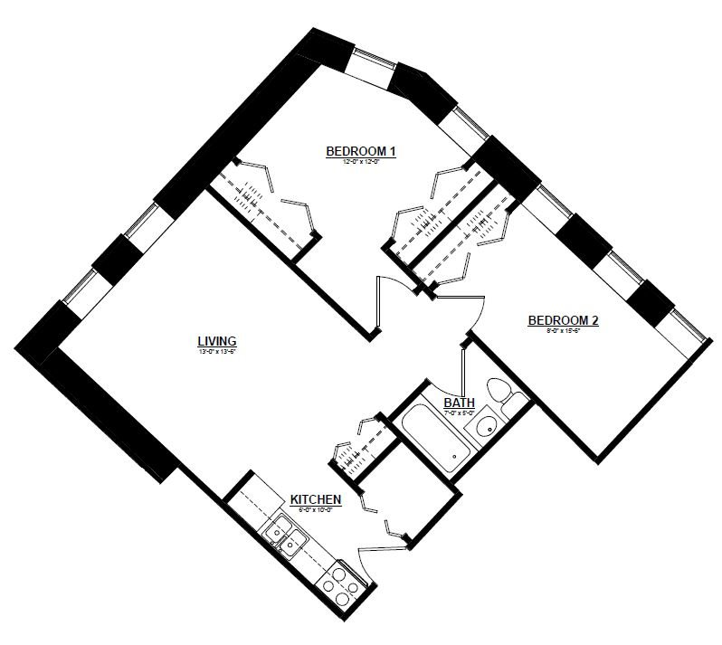 Argyle - Two Bedroom A Floor Plan