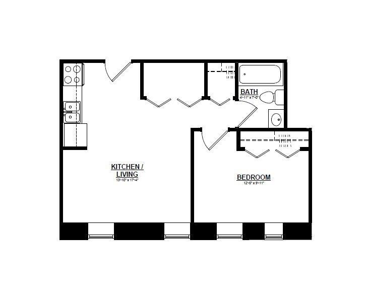 Argyle - One Bedroom D Floor Plan