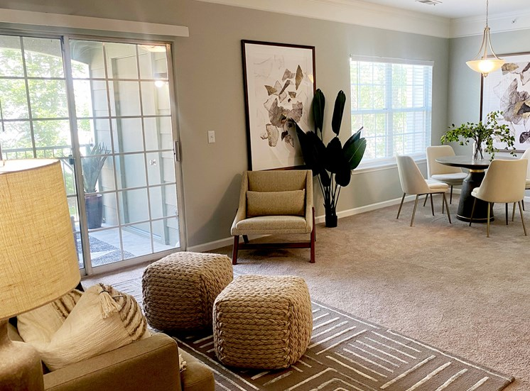 Resident seating area at The Village on Spring Mill, 14637 Handel Drive, Carmel