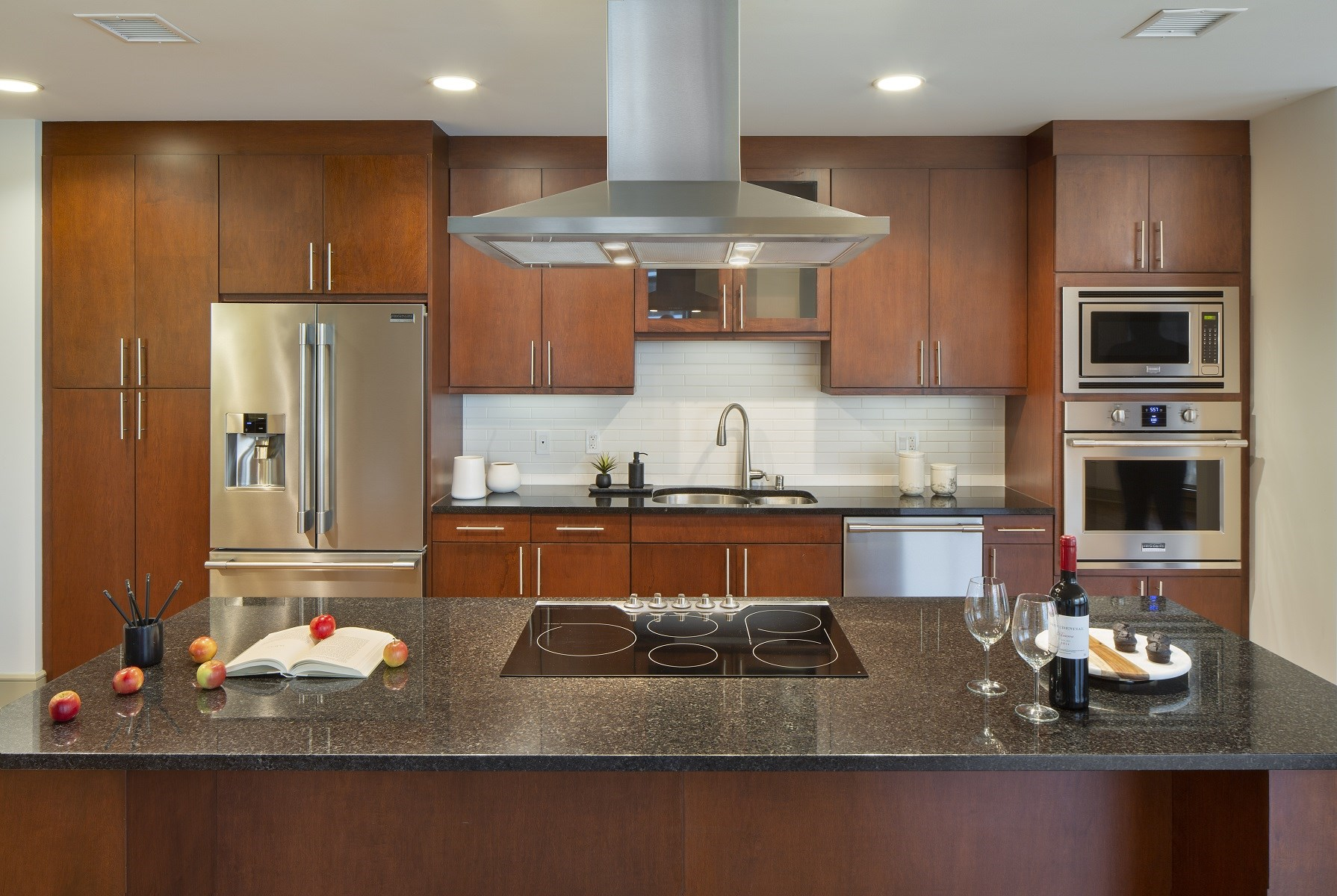 Westwood-Luxury-Apartments-Wilshire-Victoria-Unit-502-Luxury-Kitchen-With-Island-Granite-Countertops-Upgraded-Appliances