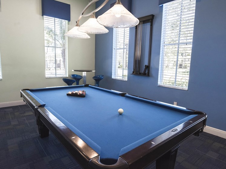 Social Clubroom with Entertaining Space and Billiards Lounge at Casa Brera at Toscana Isle Apartments, Lake Worth, FL 33463