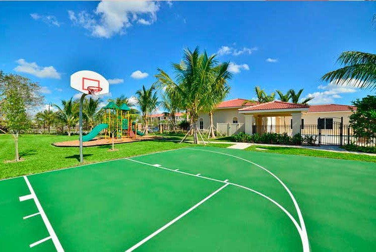 Enjoy Outdoor Games and Variety of Activities on our Multi-Purpose Sports Court at Casa Brera at Toscana Isle Apartments, Lake Worth, FL 33463