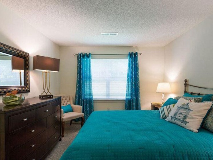 Master Bedroom with Carpeted Flooring at The Preserve Apartments in Walpole, MA