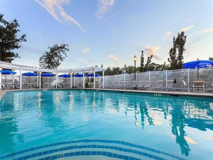 Spend Time By The Pool at The Preserve Apartments, 100 Hilltop Dr, Walpole, MA