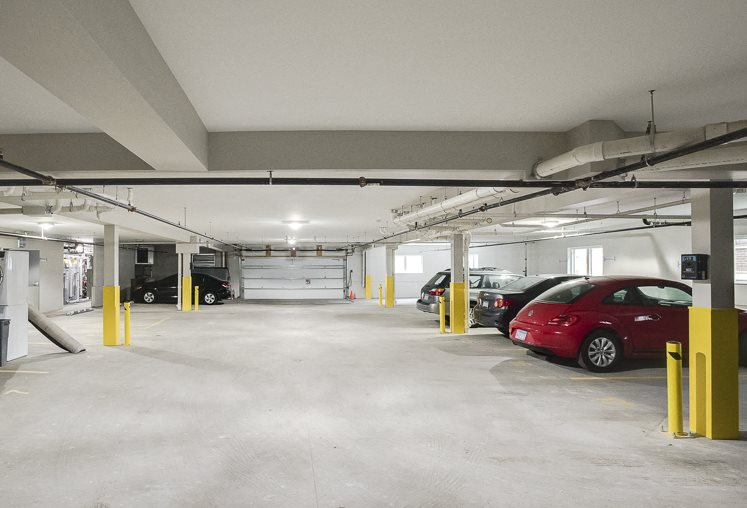 Heated, indoor parking at The Central apartments near downtown Minneapolis MN 55408