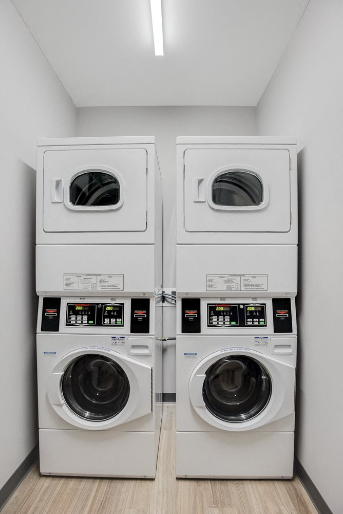 On-site laundry facility at The Central apartments near downtown Minneapolis MN 55408
