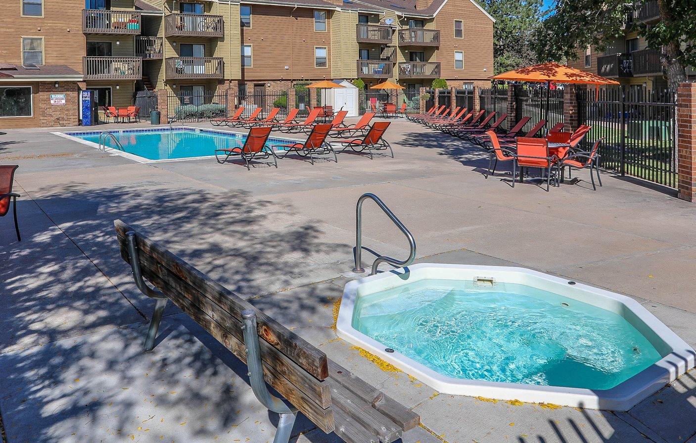 Spa and Pool at Silver Reef Apartments in Lakewood, CO