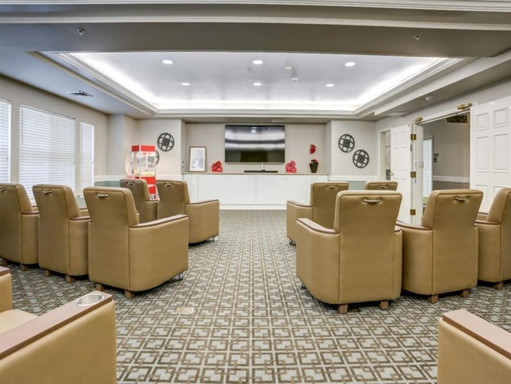 Private Movie Theater With Comfy Sitting at Westmont of Fresno, Fresno, CA, 93720