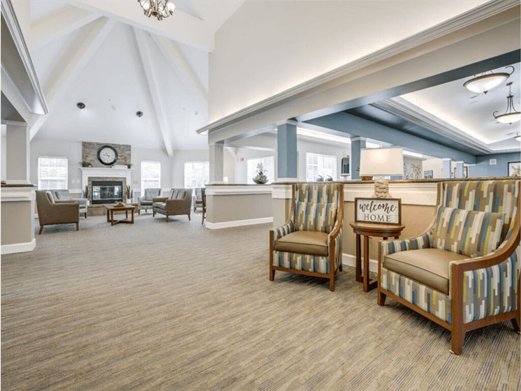 Clubroom With Fireplace at Westmont of Fresno, Fresno, 93720