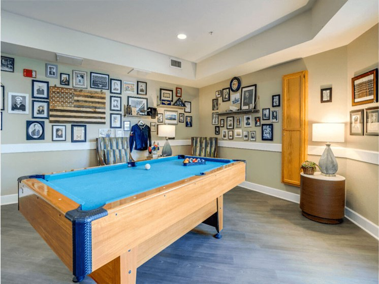 Billiards Table In Clubhouse at Westmont of Fresno, California