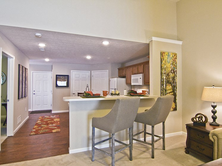 Marysville OH Apartment Rentals Redwood Milford Crossing Breakfast Bar