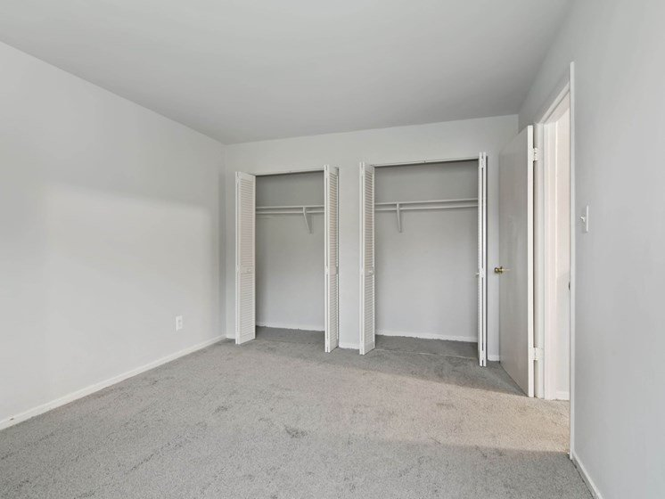 Bedroom with two closets