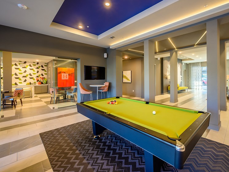 Time to Que Up at One of Harmony Luxury Apartment's Pool Tables