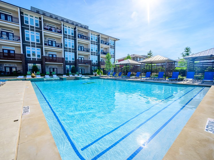 Impeccably Designed Resort-Style Swimming Pool at Harmony Luxury Apartments