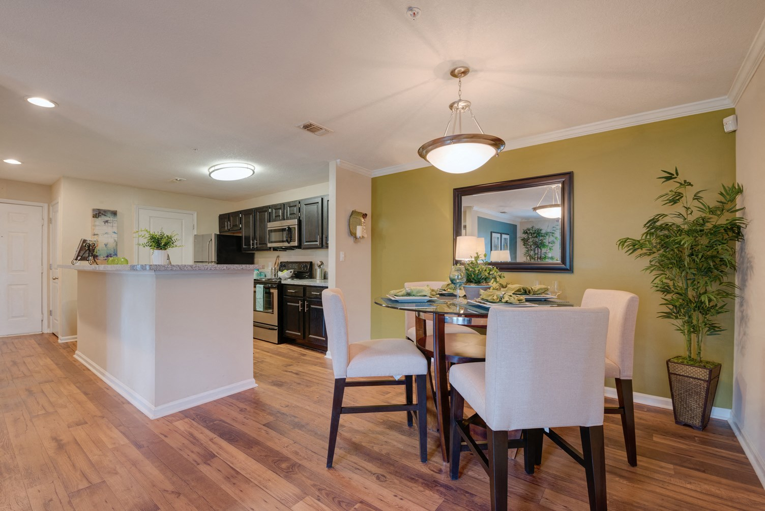 Kitchen and Dining Area at 150 Summit Apartments in Birmingham, AL