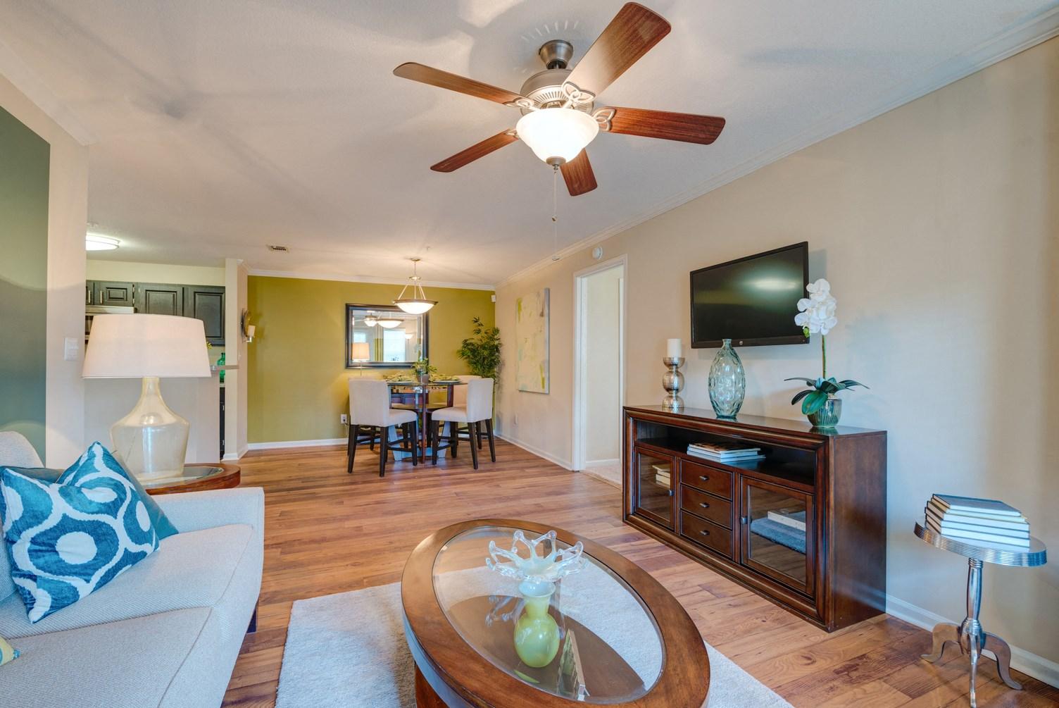 Living Room at 150 Summit Apartments in Birmingham, AL