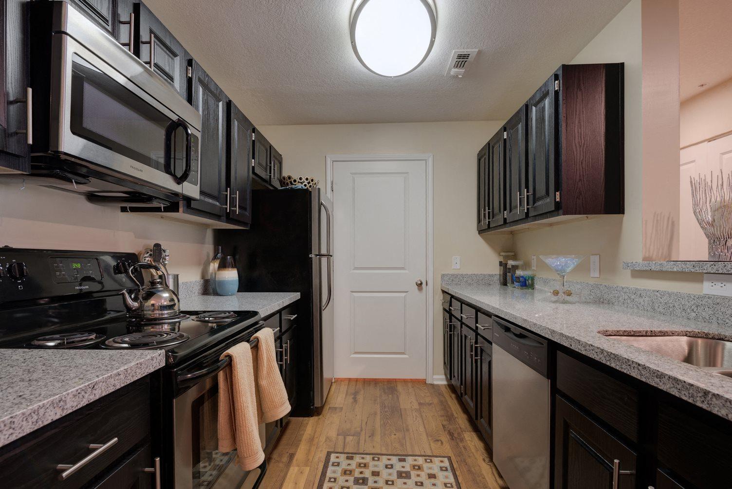 Kitchen at 150 Summit Apartments in Birmingham, AL