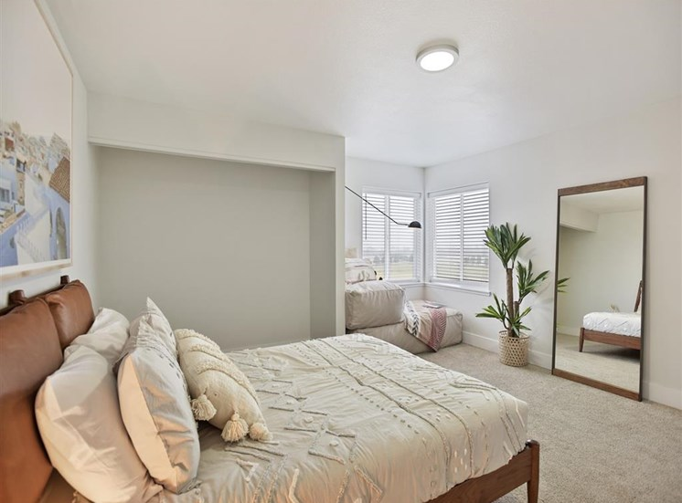 Spacious Bedroom With Comfortable Bed at Columbia Village, Boise, ID, 83716