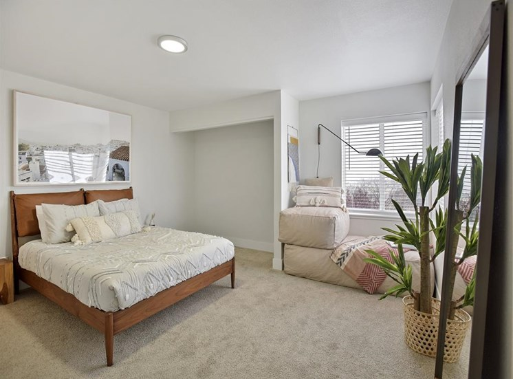 Beautiful Bright Bedroom With Wide Windows at Columbia Village, Boise, ID