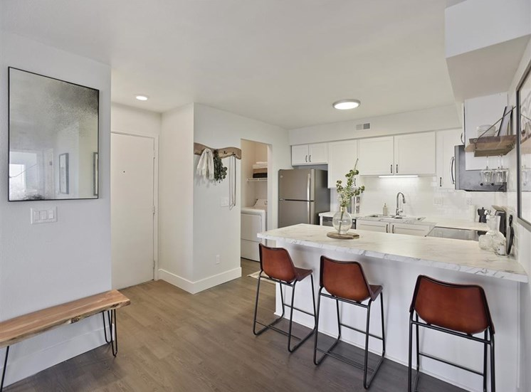 Gourmet Kitchen With Island at Columbia Village, Boise