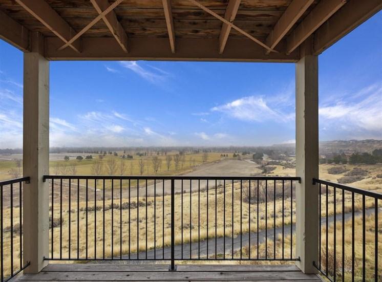 Patio View at Columbia Village, Idaho
