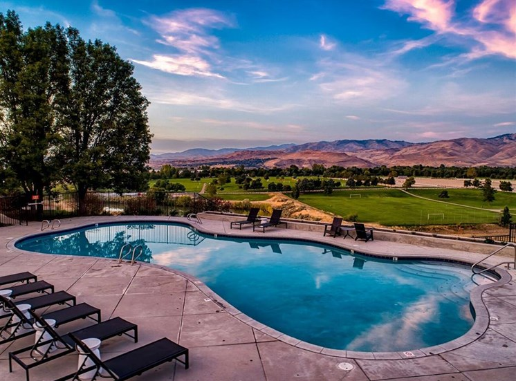 Pool view at Columbia Village, Boise, Idaho