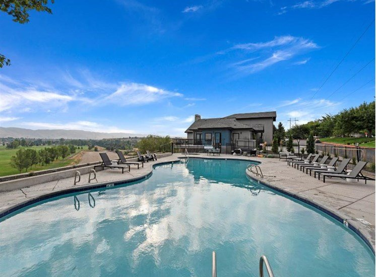 Pool with a view at Columbia Village, Boise, Idaho