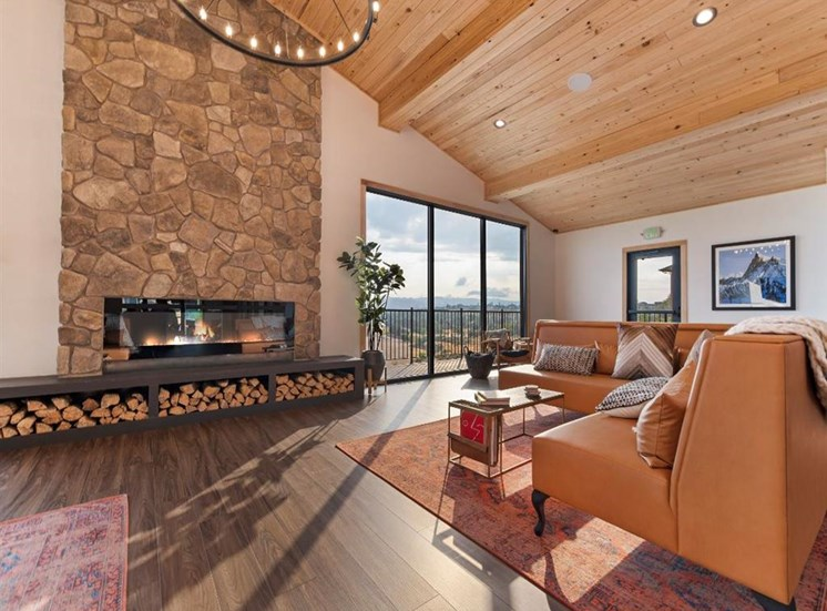 Clubhouse With Fireplace at Columbia Village, Boise, ID, 83716