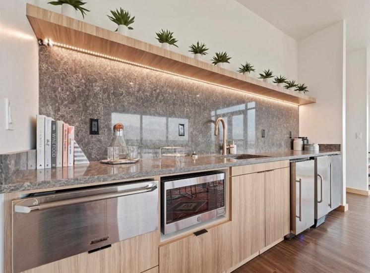 Clubhouse kitchen at Columbia Village, Boise, Idaho