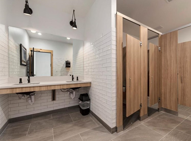 Clubhouse restrooms at Columbia Village, Boise