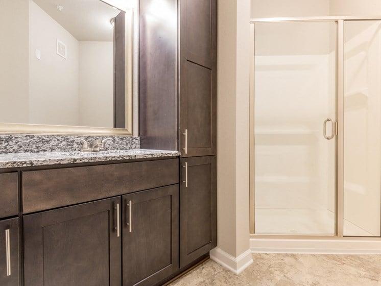 The Grand Flora Guest Bathroom Interior at The Roseberry, Columbia, South Carolina
