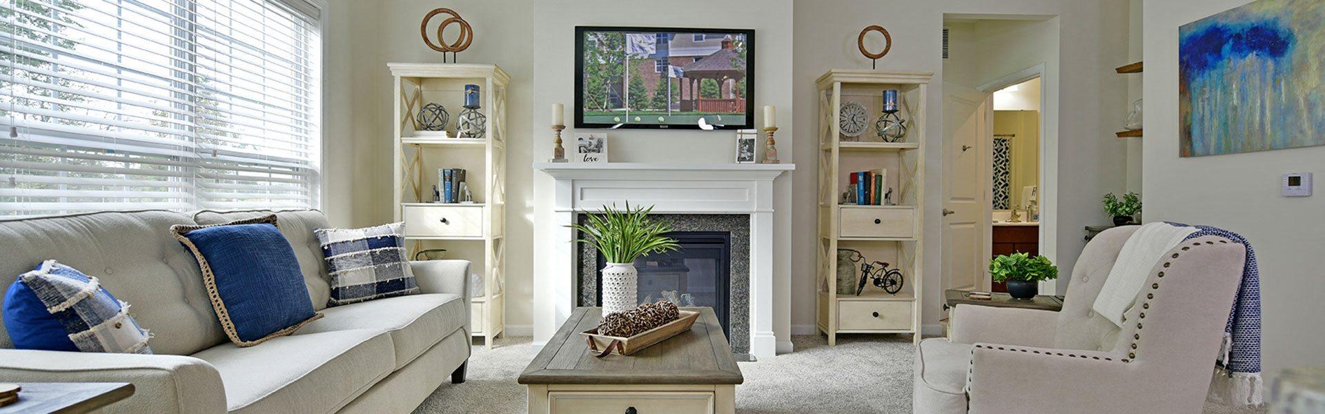 Beautiful Living Room at Rose Villas - Avon, Ohio, 44011