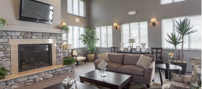 Community Lounge Interiors at Quail Run Apartments in Stoughton, Massachusetts, 02072