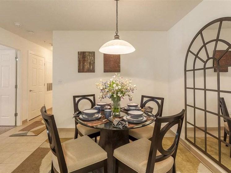 Dining Area at Quail Run Apartments in Stoughton, MA