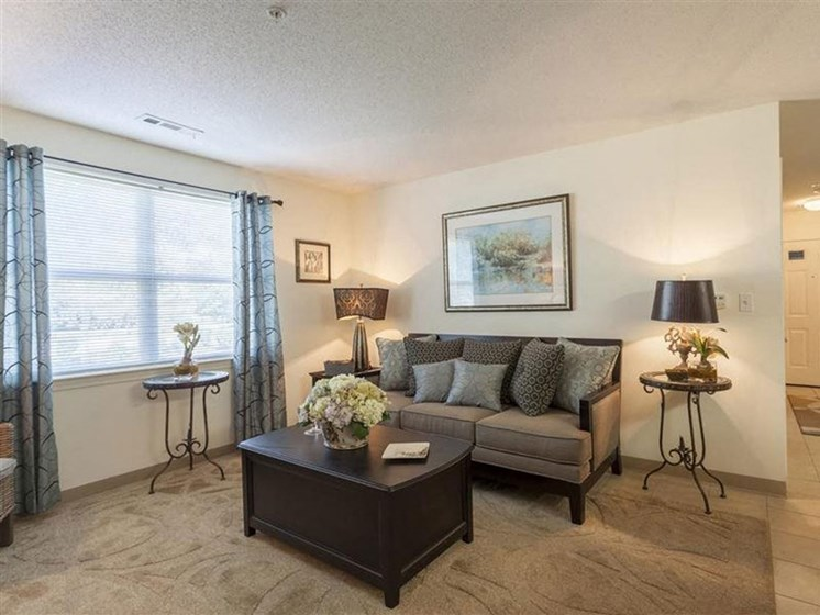 Plenty of Natural Light in Living Spaces at Quail Run Apartments in Stoughton, MA